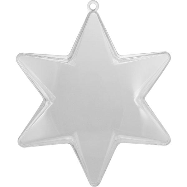 Kunststoff-Stern kristallklar, teilbar