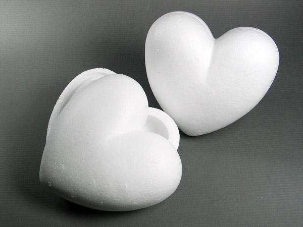 Styropor-Herz, 2-teilig