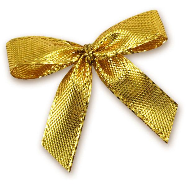 Deko-Schleifen gold, 5 Stück