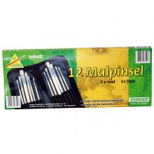 12 Malpinsel im Set