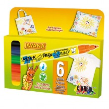JAVANA SUNNY T-Shirt Painter Fine, 6er-Set