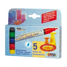 Glasmalstift Hobby Line Glass Color Pen, 5er Set